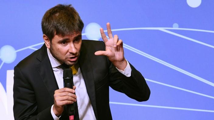 Der italienische Politiker Alessandro Di Battista der Cinque-Stelle-Bewegung