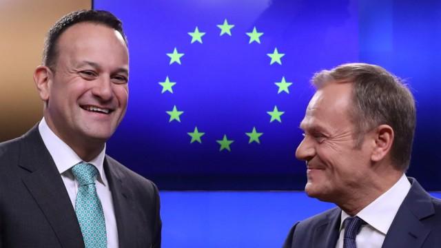 Leo Varadkar und Donald Tusk 2019 in Brüssel