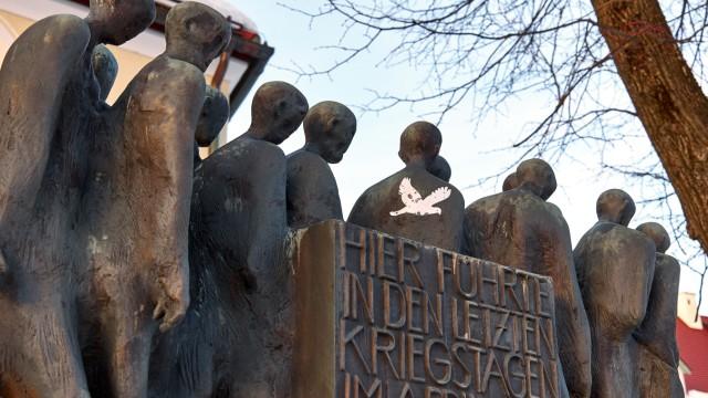 Mahnmal zum Gedenken an den Todesmarsch der KZ-Häftlinge