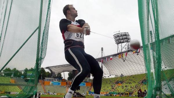 Leichtathletik EM 2002 in München - European Championships 2022 nach München  vergeben - Hammerwerfen Kobs