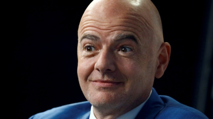 FILE PHOTO: FIFA President Gianni Infantino in Davos, Switzerland, January 24, 2019