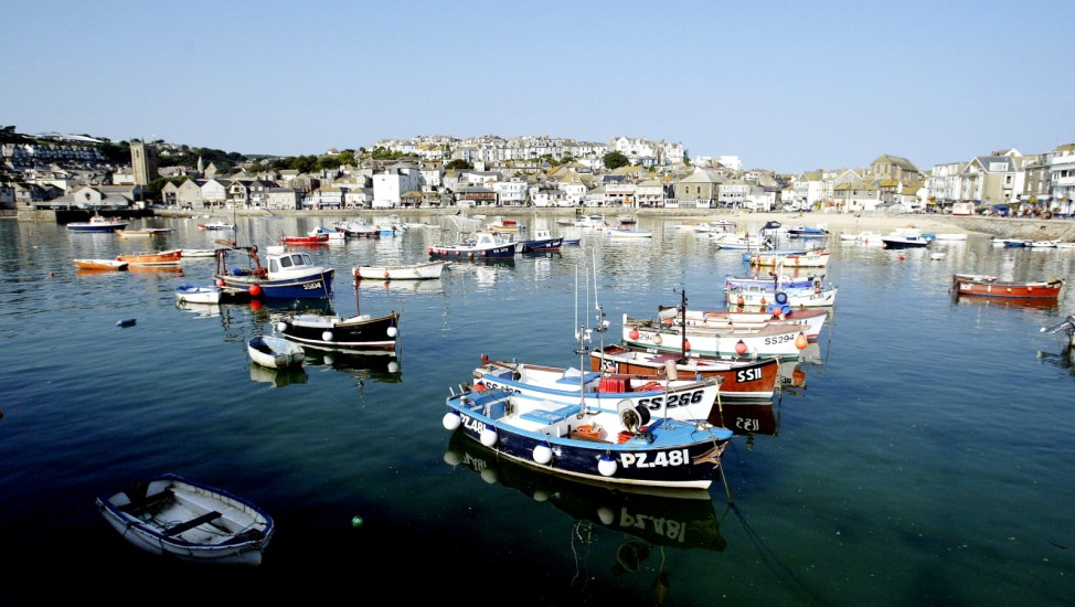 St Ives Tourist Town In Cornwall