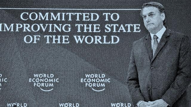 Weltwirtschaftsforum: Die Welt besser machen - wer wollte das nicht? Brasiliens Präsident Jair Bolsonaro in Davos.