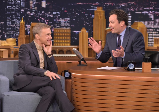 Christoph Waltz Visits 'The Tonight Show Starring Jimmy Fallon'