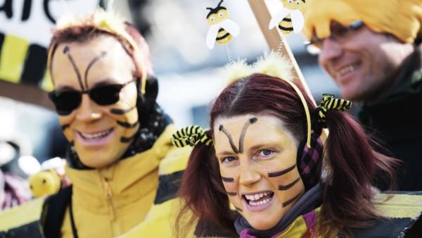 """Demonstration für das Volksbegehren """"Artenvielfalt - Rettet die Bienen"""""""