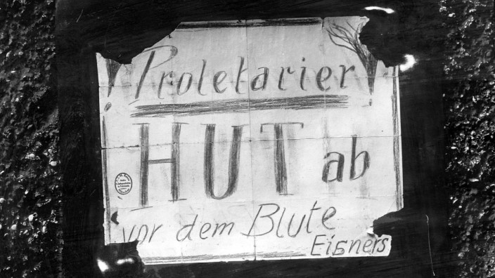 Aufforderung zum Gedenken an Kurt Eisner, 1919