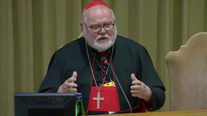 Cardinal Reinhard Marx speaks during the third day of the four-day meeting on the global sexual abuse crisis, at the Vatican