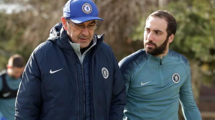 FC Chelsea - Pressekonferenz und Training