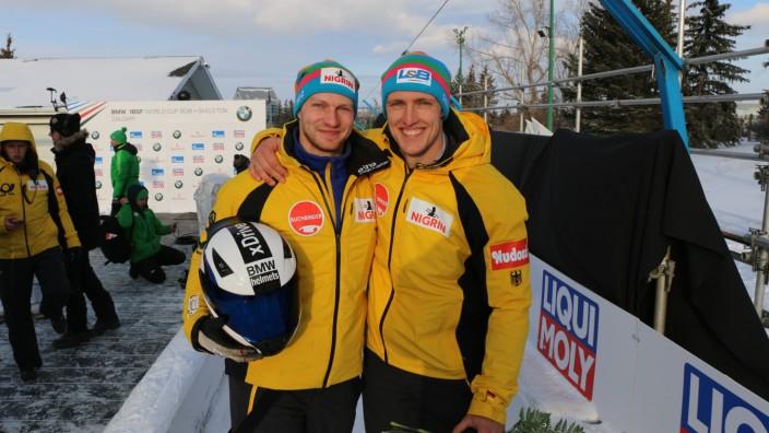 23 2 2019 Calgary Bob Weltcup Francesco Friedrich + Thorsten Margis *** 23 2 2019 Calgary Bob Wo