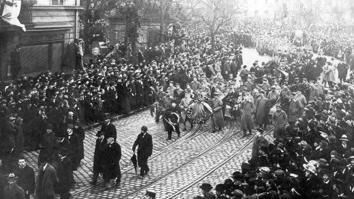 Trauerzug für Kurt Eisner in München, 1919