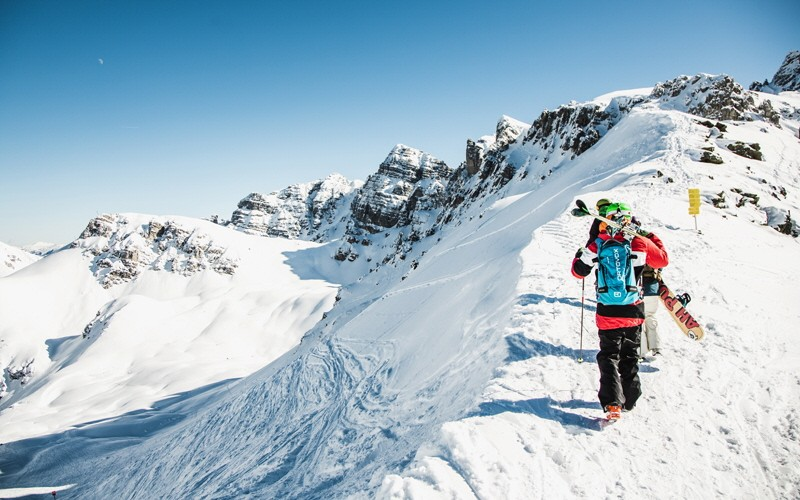 Die Axamer Lizum Skifahren Skigebiet Österreich