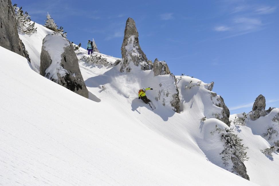 Freeriden in Warth Schröcken Skigebiet