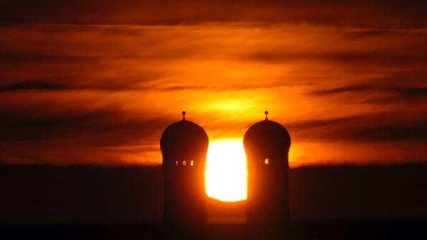 Sonnenaufgang in München
