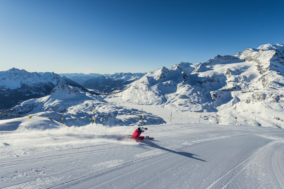 ENGADIN St. Moritz: Skifahren Lagalb; Lagalb Diavolezza Engadin St. Moritz Tourismus