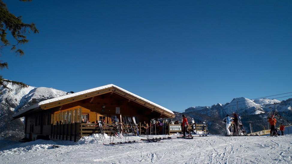 Achensee, Riederbergstüberl; Achensee Christlum Skifahren