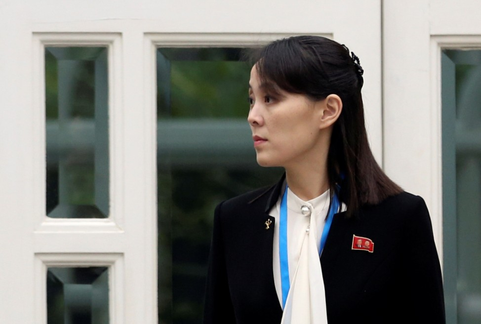 Kim Yo Jong, sister of North Korea's leader Kim Jong Un and first vice department director of the ruling WorkersâÄÖ PartyâÄÖs Central Committee, looks on at the Metropole hotel during the second North Korea-U.S. summit in Hanoi