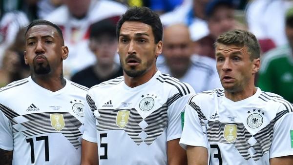 Nationalmannschaft: Jerome Boateng, Mats Hummels und Thomas Müller bei der WM 2018