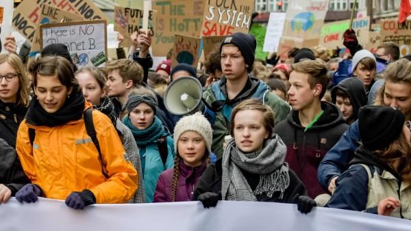Klimawandel - Demonstration für Klimaschutz in Hamburg 2019 mit Greta Thunberg