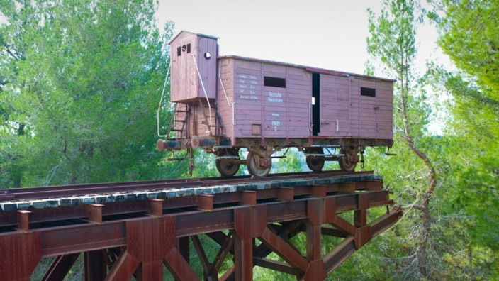 The Memorial to the Deportees was established at Yad Vashem as a monument to the millions of Jews herded onto cattle-cars and transported from all over Europe to the extermination camps. An original German cattle-car given to Yad Vashem by the Polish auth