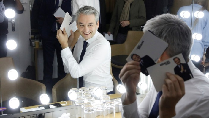 Robert Biedron, the founder of a new progressive party 'Spring' ('Wiosna'), smiles before the party's convention in Gdansk