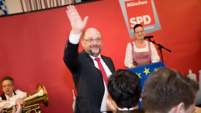 Martin Schulz, europapolitische Veranstaltung in der Echardinger Einkehr, (Bad-Kreuther-Straße 8) im Münchner Osten