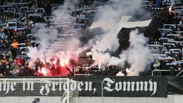 Chemnitz vs VSG Altglienicke 09 03 2019 Chemnitz Stadion an der Gellertstrasse Fussball Regional; Chemnitzer FC Fans