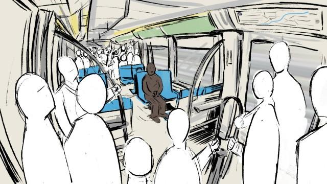 Rassismus im Alltag, Illustration von Alper Özer für MRB Thema des Tages