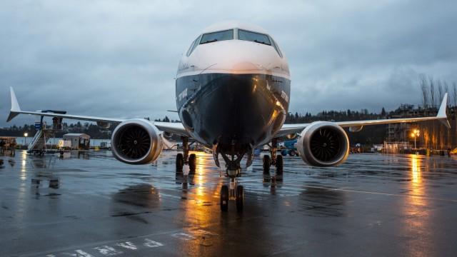 Boeing 737 Max vor der Boeing-Fabrik im US-Bundesstaat Washington