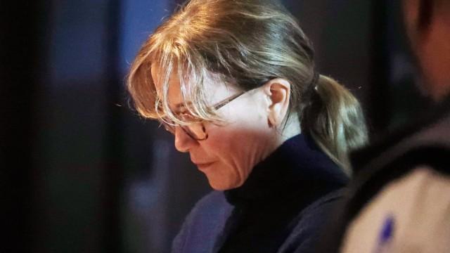 Felicity Huffman nach ihrer Anhörung vor einem Gericht in Los Angeles