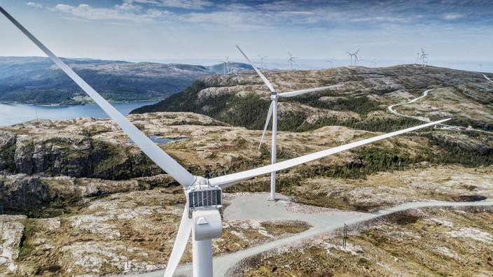 Erneuerbare Energien: Bayerisch-norwegische Kooperation: Die Stadtwerke betreiben mit ihrem Partner Trønderenergi mehrere Onshore-Windparks.