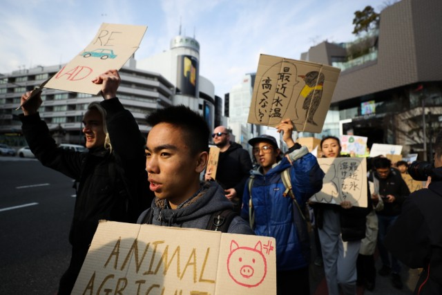 Students Strike In Tokyo To Raise Climate Change Awareness