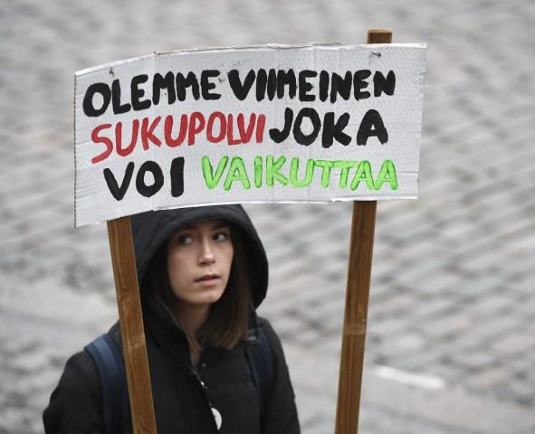 "´Fridays for Future"": Klimaprotest in Helsinki"