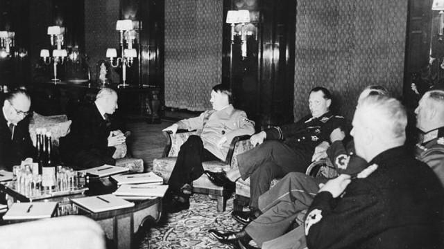 Berlin, Besuch Emil Hacha, Gespräch mit Hitler