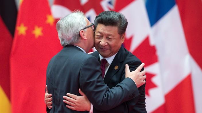 EU-Kommissionspräsident Jean-Claude Juncker und Chinas Präsident Xi Jinping 2016 beim G20-Gipfel in Hangzhou