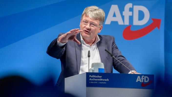 AfD-Bundessprecher Jörg Meuthen beim Politischen Aschermittwoch 2019 in Bayern