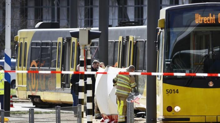 Utrecht Schüsse Trambahn