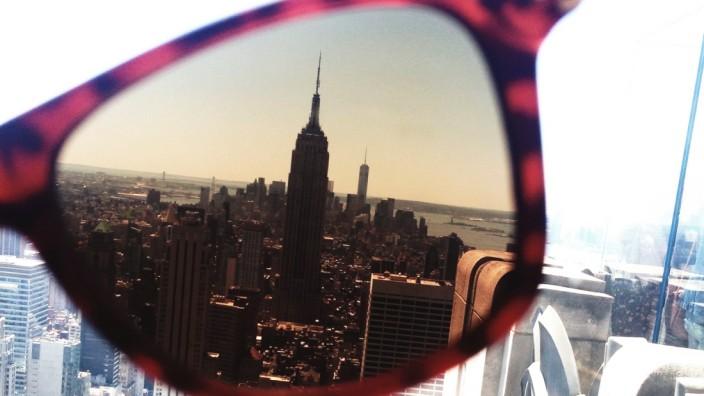 New York City, durch eine Sonnenbrille gesehen.