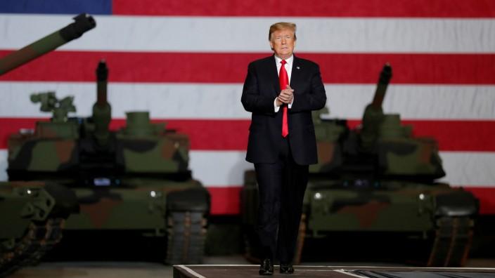 U.S. President Trump visits the Lima Army Tank Plant (LATP) in Lima, Ohio