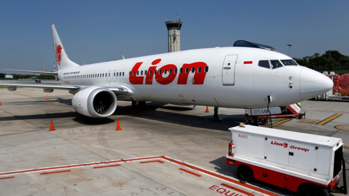 Boeing 737 Max 8 der Fluggesellschaft Lion Air