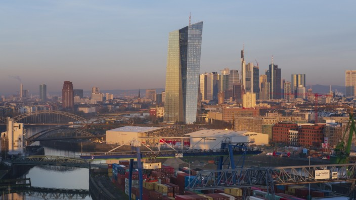 Frankfurt - Blick auf die Skyline