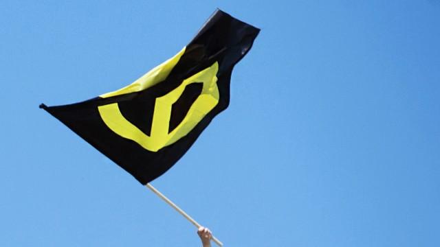 Fahne der Identitären Bewegung