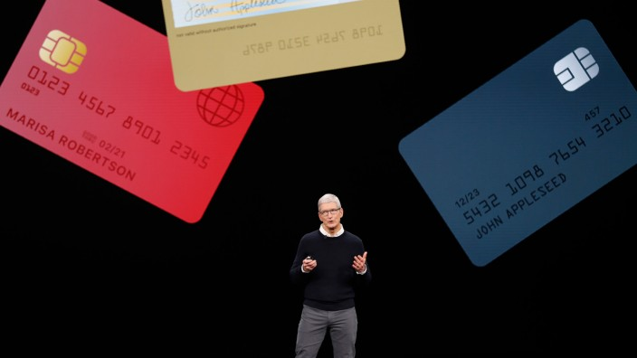 Tim Cook, CEO of Apple, speaks during an Apple special event at the Steve Jobs Theater in Cupertino