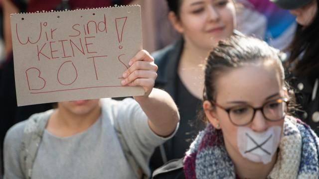 Artikel 13 - Proteste gegen neues Urheberrecht 2019 in Stuttgart