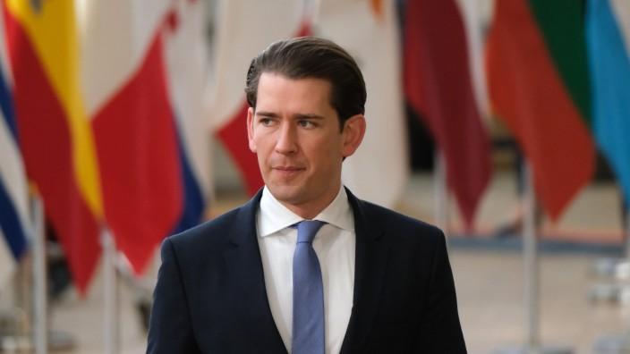 Österreich - Bundeskanzler Sebastian Kurz 2019 in Brüssel