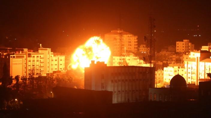 Gazastreifen - Explosion in Gaza-Stadt