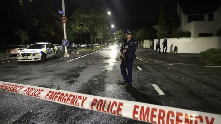 Neuseeland - Absperrung in Christchurch nach einem Terroranschlag 2019
