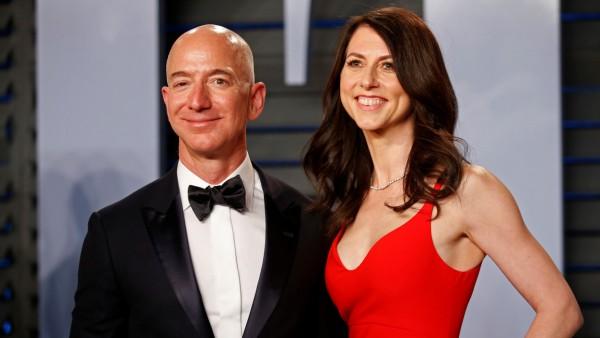 Jeff und Mackenzie Bezos 2018 bei der Oscar-Verleihung