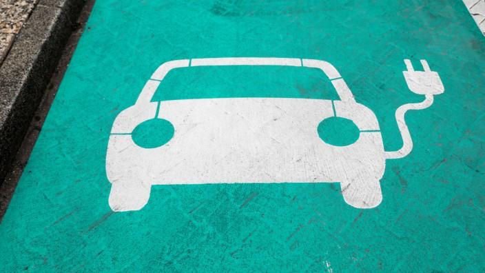 Parkplatz für Elektroauto