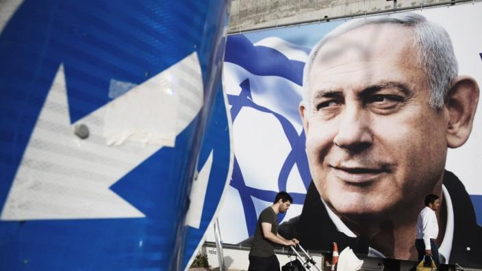 Wahl in Israel 2019 - Wahlplakat von Benjamin Netanjahu