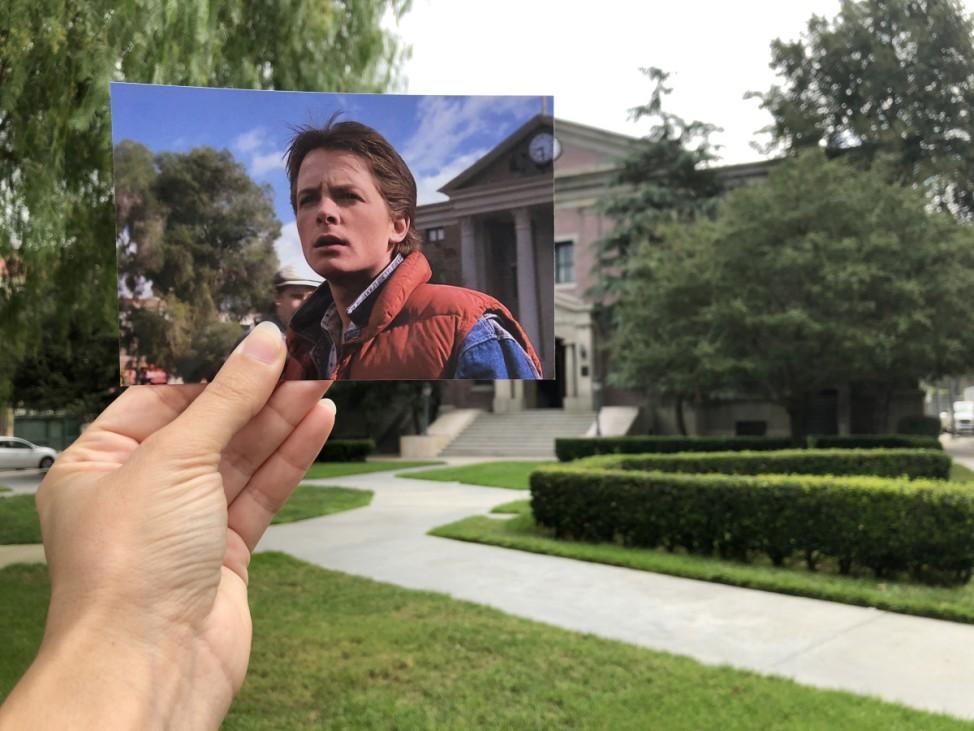 Universal Studios Zurück in die Zukunft Drehort Andrea David Filmtourismus.de